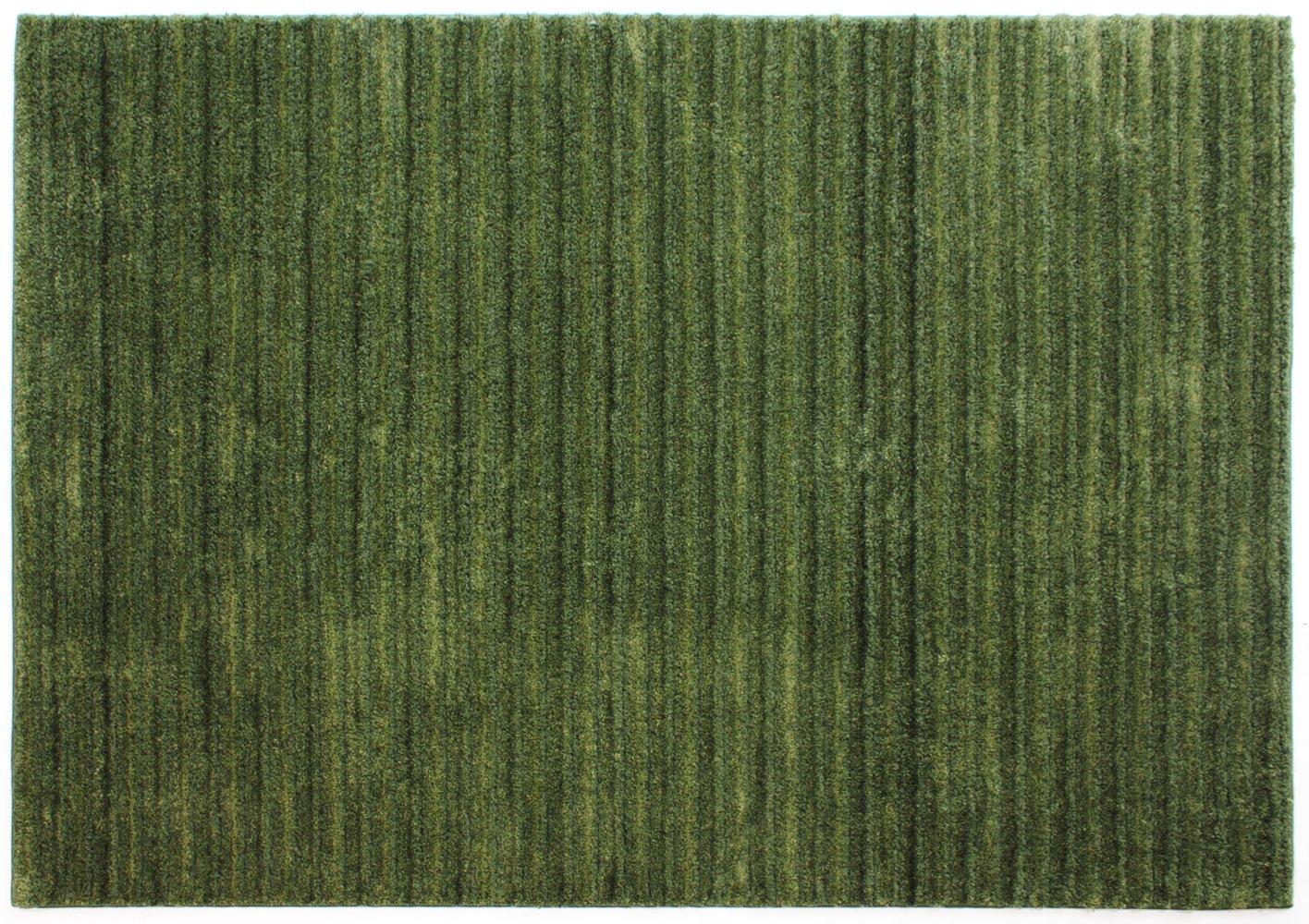 スミノエ ウォームエコ ラグ リブ 200×250cm グリーン 13381610 B012N19Q2Q グリーン