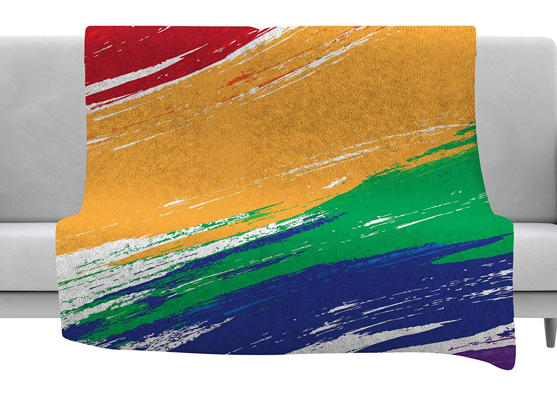Kess InHouse Josh Serafin Offshore Beauty Multicolor Coastal Fleece Pillow Case 30 x 20