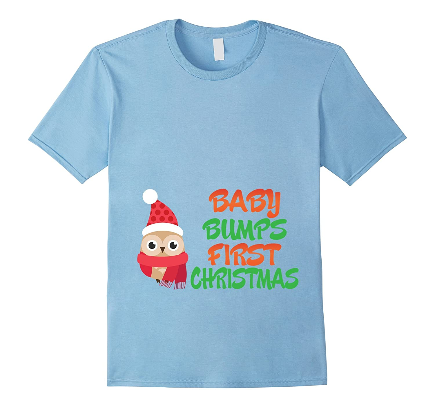e660d44a15122 Baby Bumps First Christmas Funny Pregnant Maternity T-Shirt-RT ...