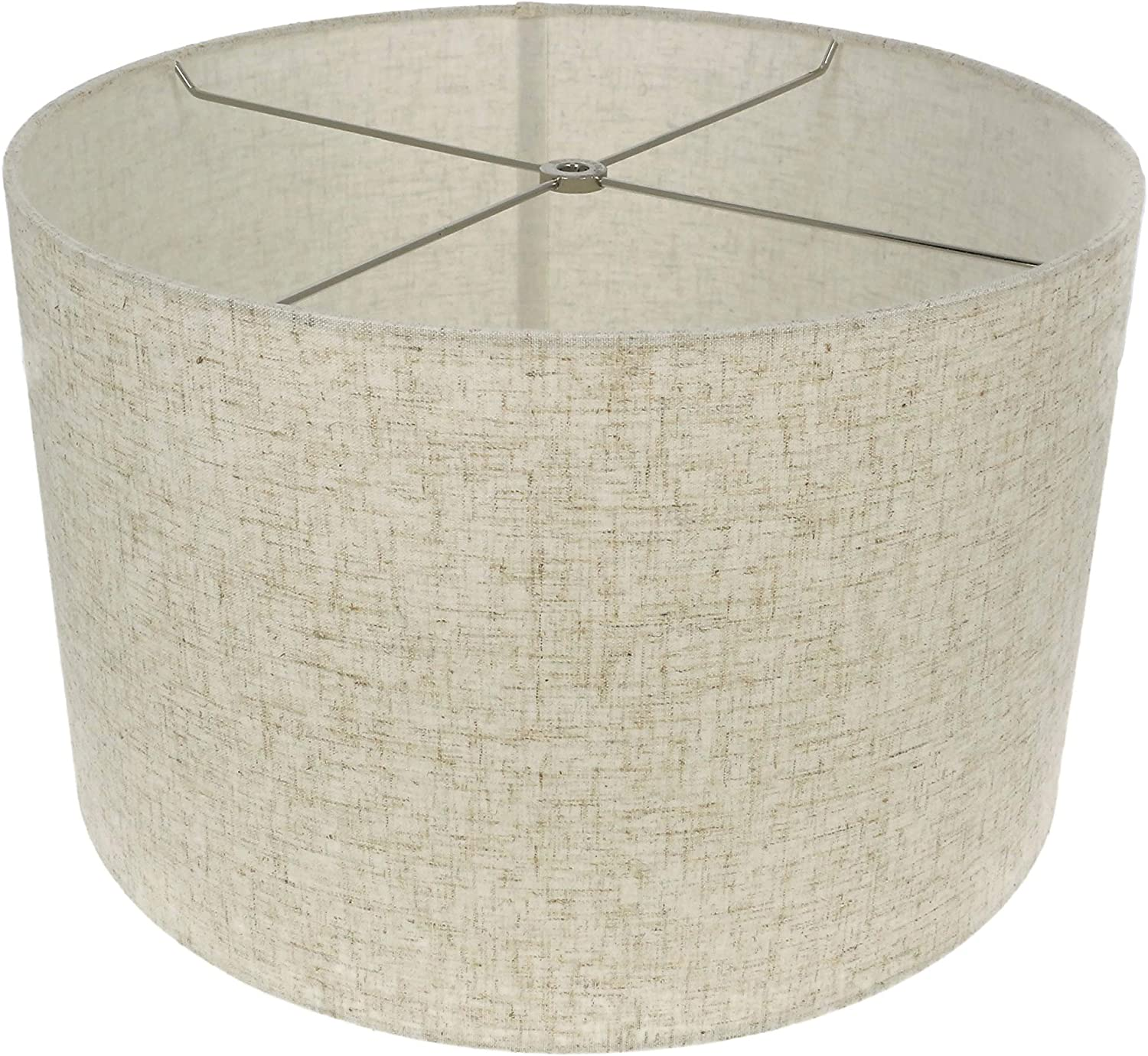 Urbanest Linen Drum Lamp Shade 16 Inch By 16 Inch By 10 Inch Cottage Spider Fitter