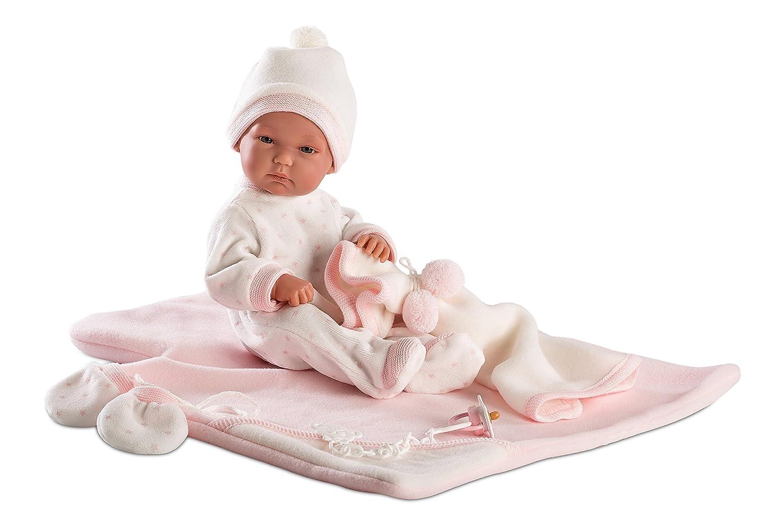 Llorens 63536 – Muñeca Bimba con rosafarbenem Pijama, 35 cm