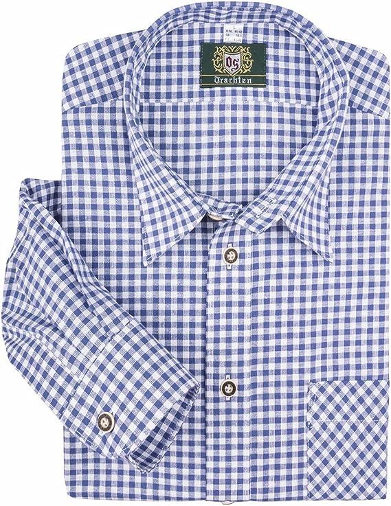 Orbis Camisa Tradicional a Cuadros Azul Real y Blanco Oversize: Amazon.es: Ropa y accesorios