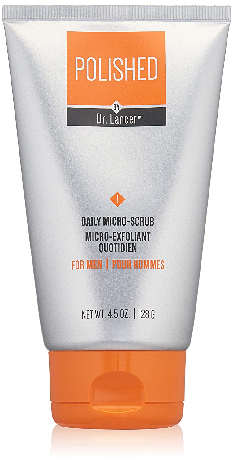 Polished by Dr. Lancer Daily Micro-Scrub, Men's Face Scrub, 4.5 Oz