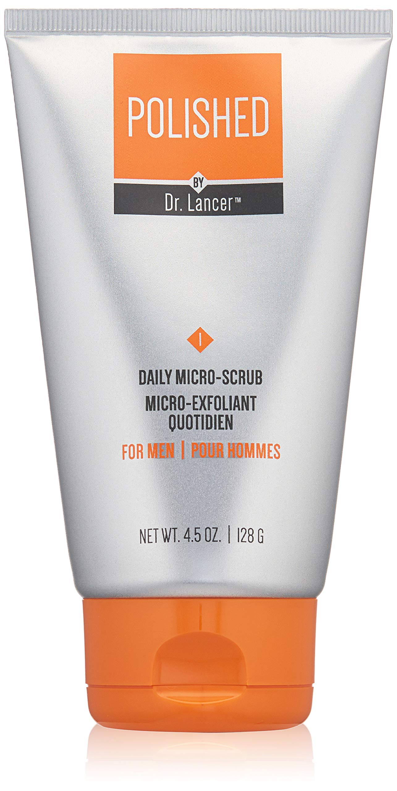 Polished by Dr. Lancer Daily Micro-Scrub, Men's Face Scrub, 4.5 Oz