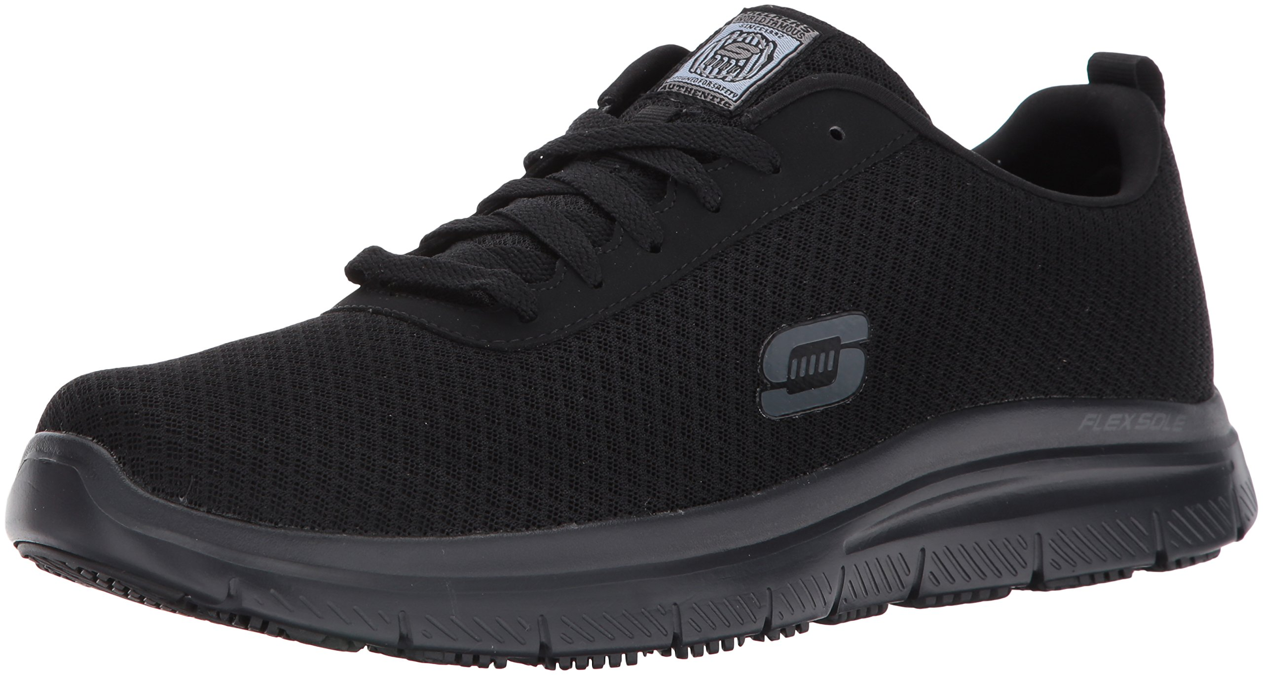 Skechers for Work Men's Flex Advantage Bendon Work Shoe, Black, 7.5 D(M) US