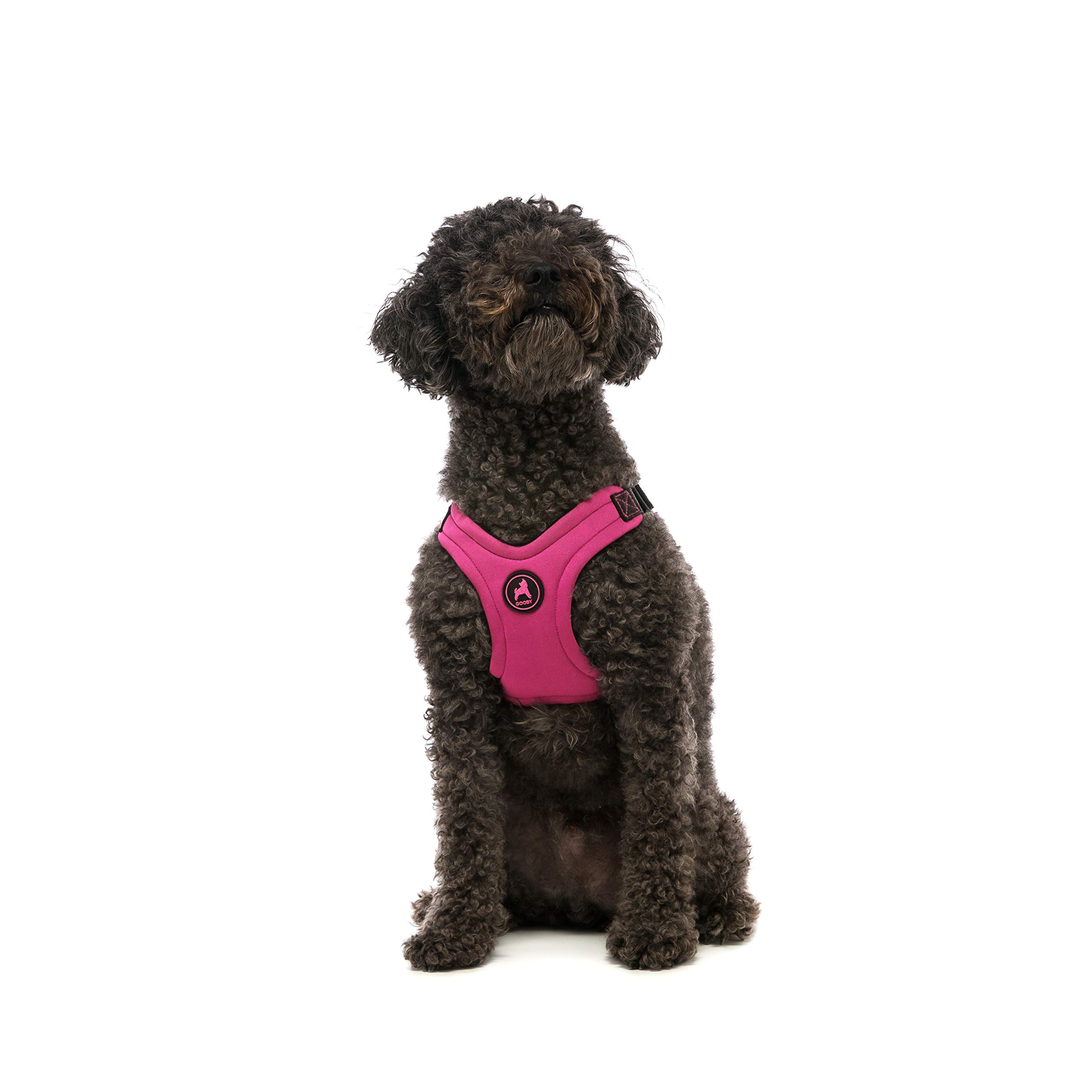 Gooby - Escape Free Sport Harness, Small Dog Step-in Neoprene Harness for Dogs That Like to Escape Their Harness, Pink, Medium