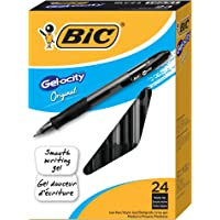 BIC Gel-ocity 0.7mm Retractable Gel Pen, 24-Count (Black)