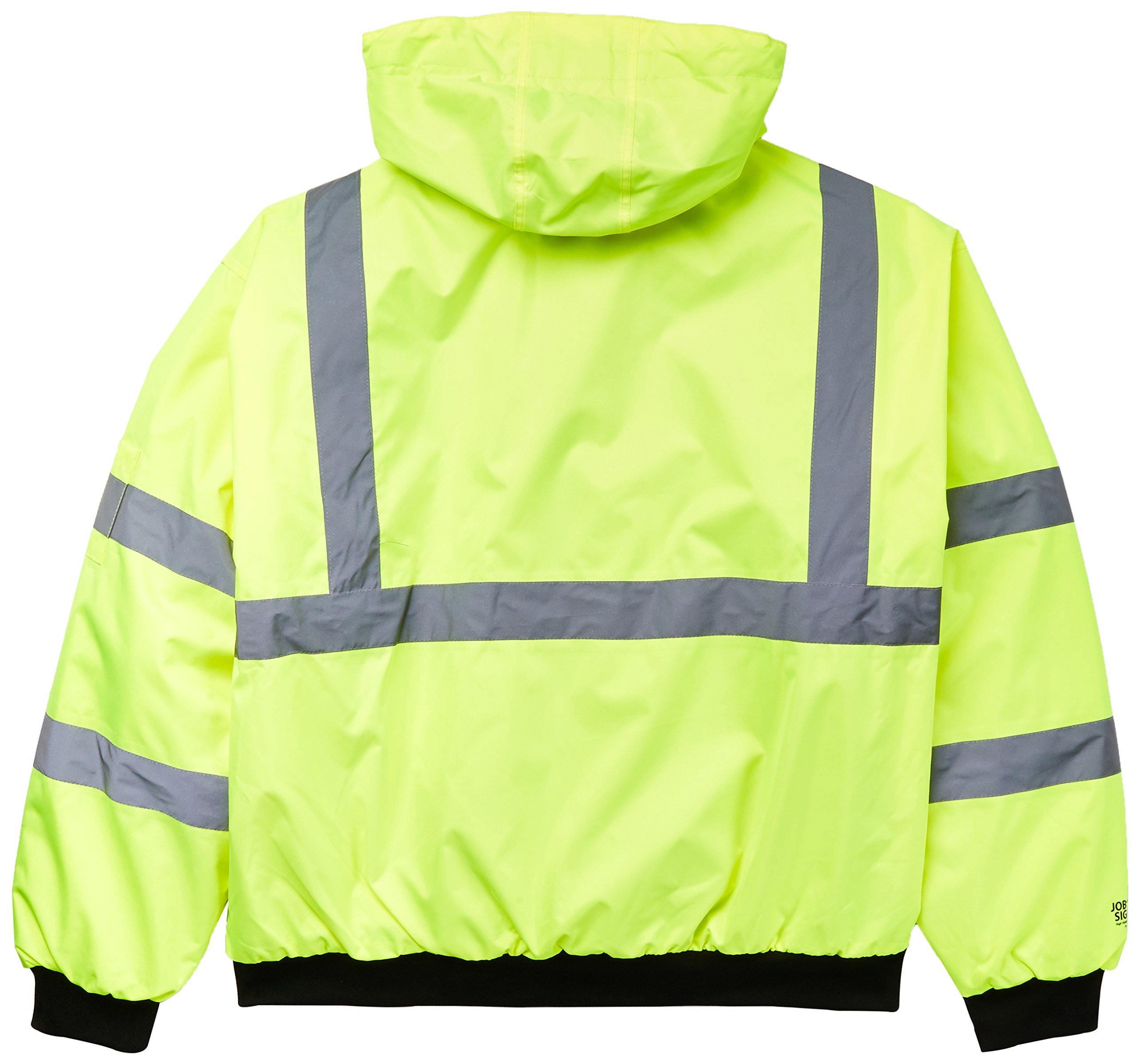 Bomber J26002.XL Jacket with 2'' Silver Reflective Tape, Size X-Large, Fluorescent Yellow/Green/Black by Bomber (Image #2)