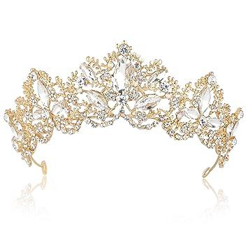 Amazon.com: BABEYOND - Tiara de cristal para reina, corona ...