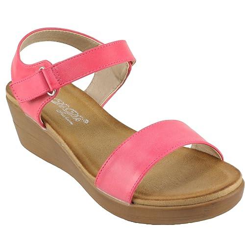 f77dbc5c4 Amazon.com | DbDk Women's Gasina-5 Ankle Strap Open Toe Platform Wedge Heel  Sandals | Heeled Sandals