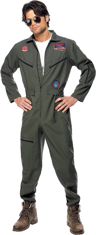 Smiffys - Disfraz de Aviador para Hombre, Talla 48 - 50 (36287M ...