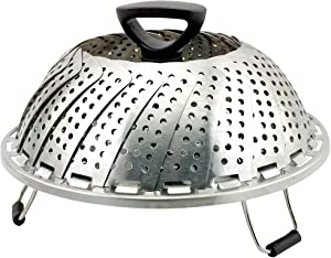 Good Grip Stainless Steel Steamer Basket with Extendable Black Handle