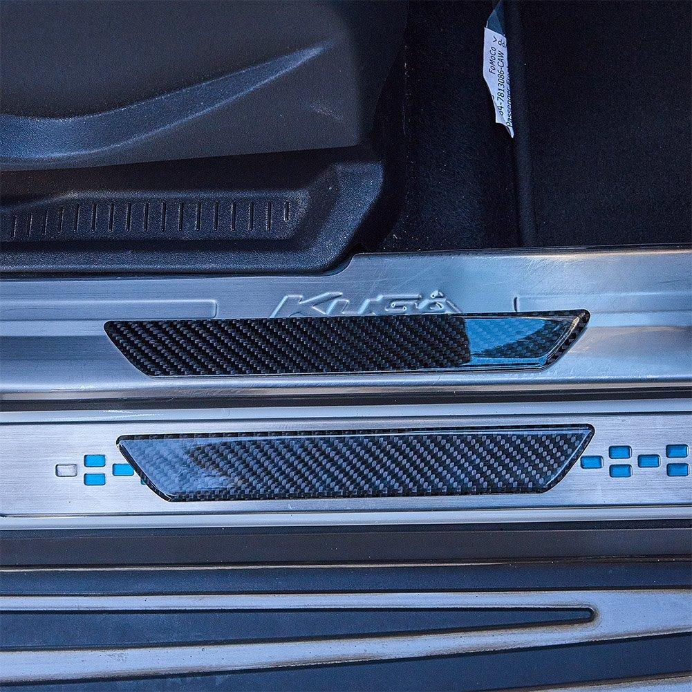ATMOMO Car Accessories Door Pedal Threshold Stickers Carbon Fiber Printing Anti-Scratch Waterproof Sticker Decal 26CMx4CM