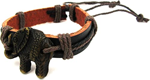 JewelryVolt Genuine Leather Bracelet Metal Studs