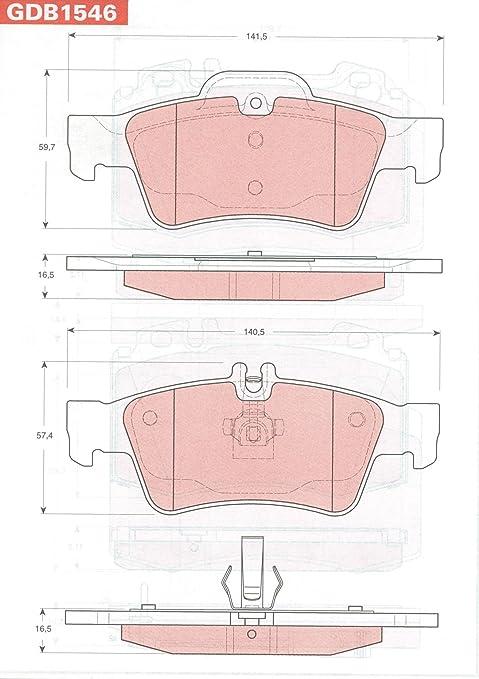 TRW Automotive AfterMarket GDB1546 pastilla de freno