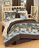 River Fishing Comforter Set, Queen