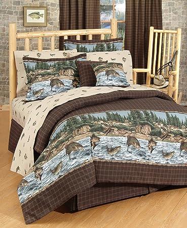 River Fishing Comforter Set, Twin