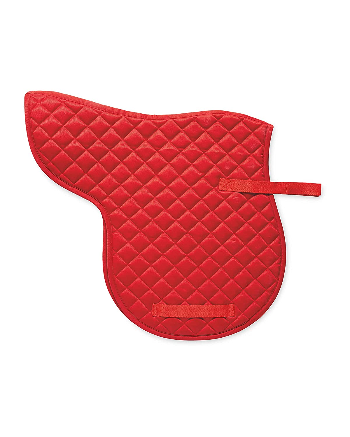 100% Polyester 170GSM Quilted Horse Cob Saddle Numnah - Colour Red ( Equestrian Horse Cob Saddle Pads ) Crane