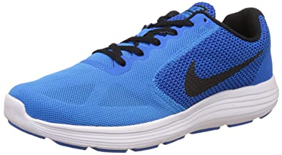 f00762a4000 Nike Men s Revolution 3 Running Shoes Blue  Amazon.co.uk  Shoes   Bags