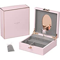 Wild & Wolf Lacquer Hero Pink Jewellery Box with Musical Ballerina Jewellery