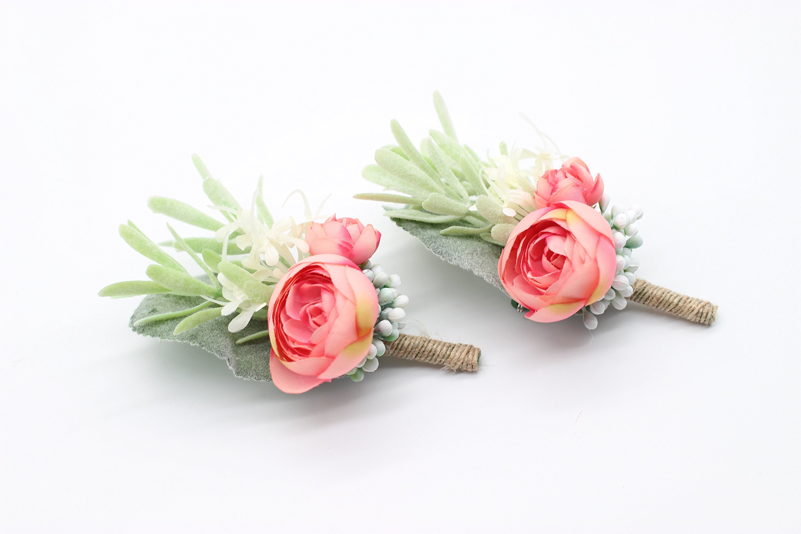 Yokoke-Artificial-Succulent-Boutonniere-Bouquet-Corsage-Wristlet-Vintage-Silk-Fake-Pink-Flowers-flocked-Plants-For-Groom-Bride-Wedding-Decor-2-Pcs