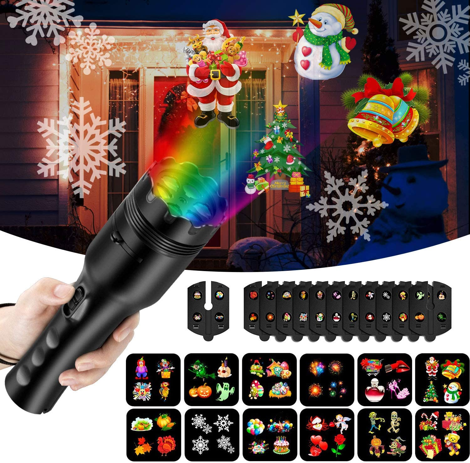 Handheld Projector Lights for Holiday Decoration,LED Projection ...