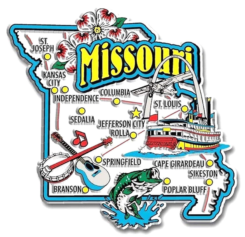 Missouri Jumbo State Map Fridge Magnet