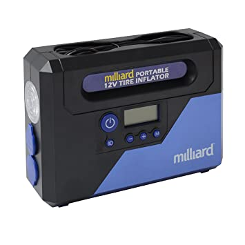 Amazon milliard portable tire inflator powerful 12 volt air milliard portable tire inflator powerful 12 volt air compressor with auto shut off sciox Images
