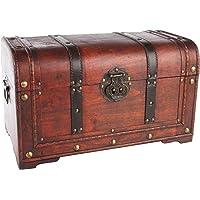 MYBOXES Coffre à trésor de Pirate, coffre cadeau Dimensions : 45 x 27,5 x 30,5 cm