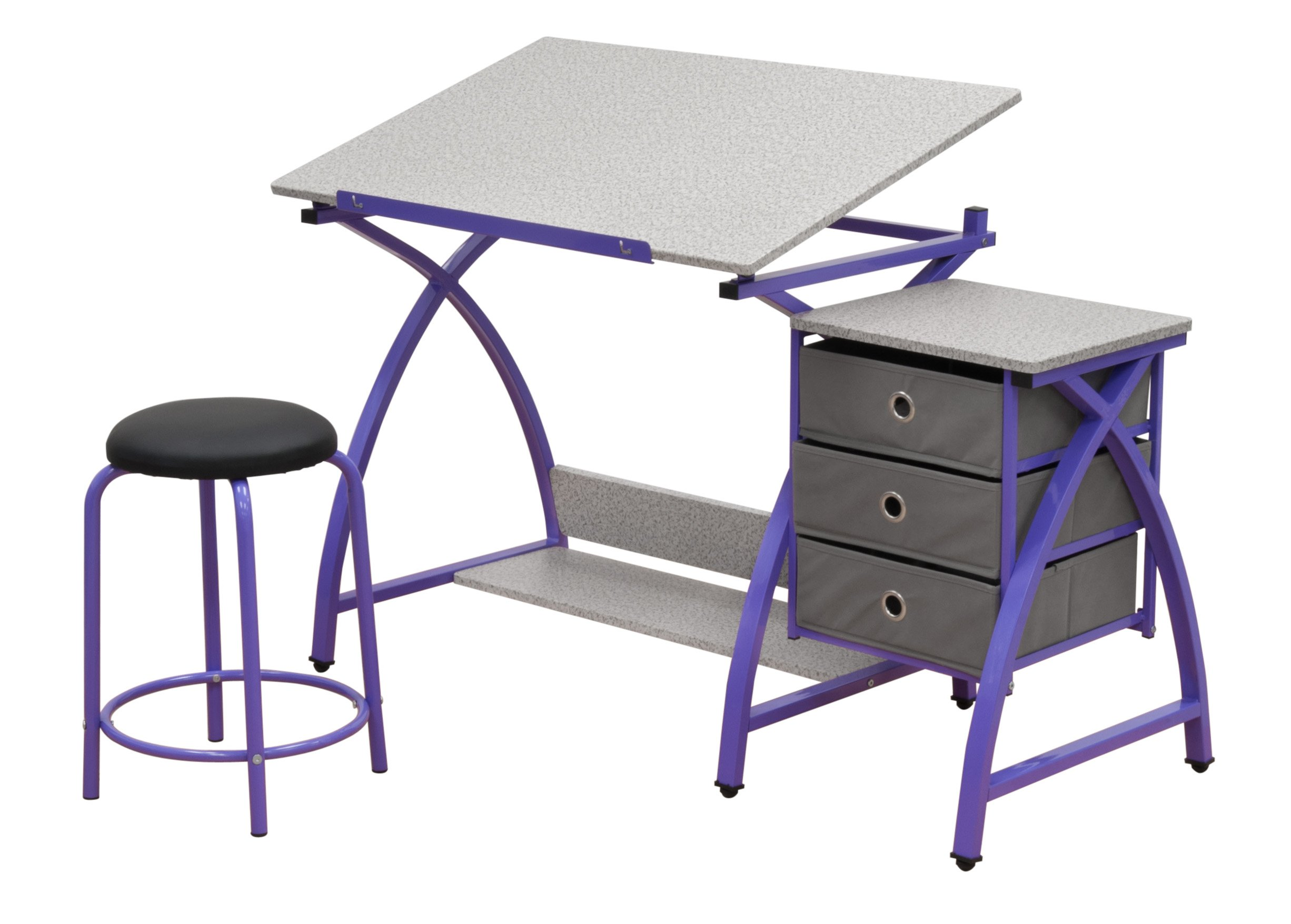Comet Center with Stool in Purple / Spatter Gray by SD STUDIO DESIGNS (Image #1)