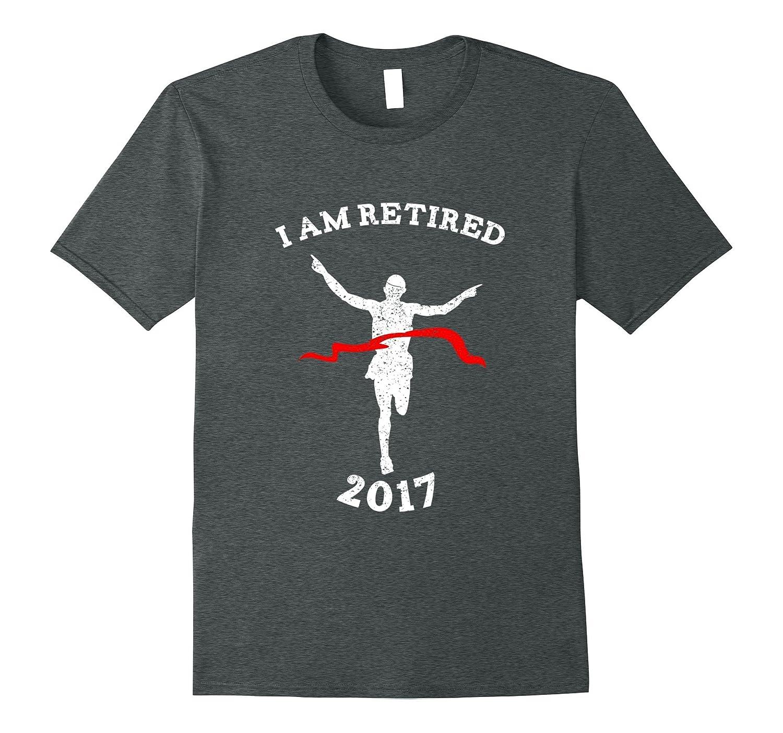 I Am Retired Finishing Runner T-Shirt Funny-Vaci