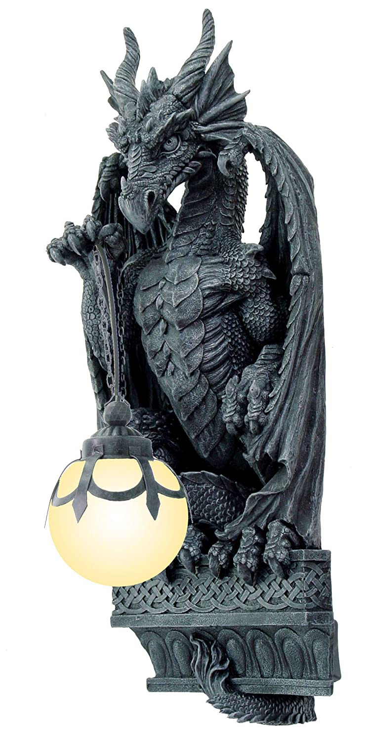the best attitude 7ee5b 02df5 MEDIEVAL DRAGON WALL LAMP 26