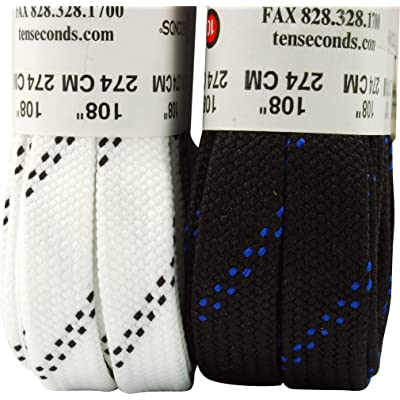 Hockey Laces 108 in White : Hockey Skate Accessories : Sports & Outdoors
