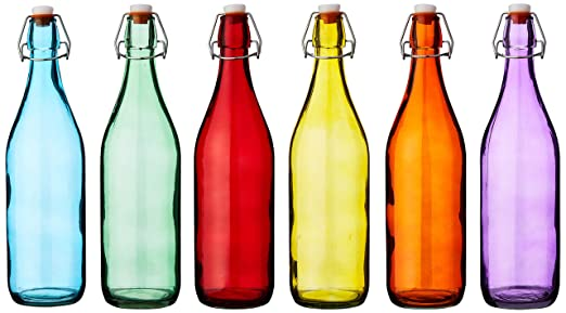 Bar @ drinkstuff Botellas colgantes de vidrio coloreado 1 litro ...