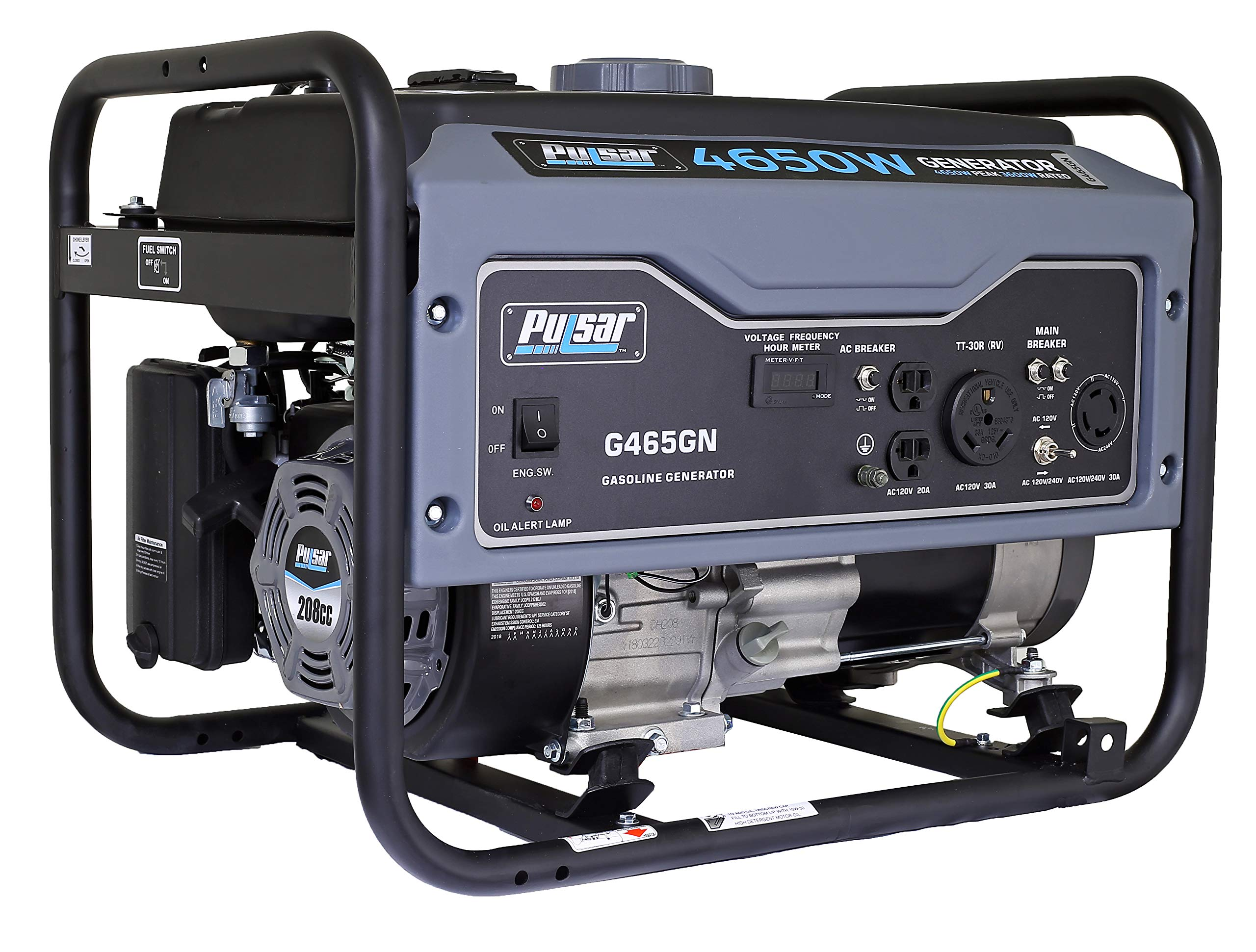 Pulsar G12KBN-SG Heavy Duty Portable Dual Fuel Generator – 9500 Rated Watts & 12000 Peak Watts – Gas & LPG – Electric…