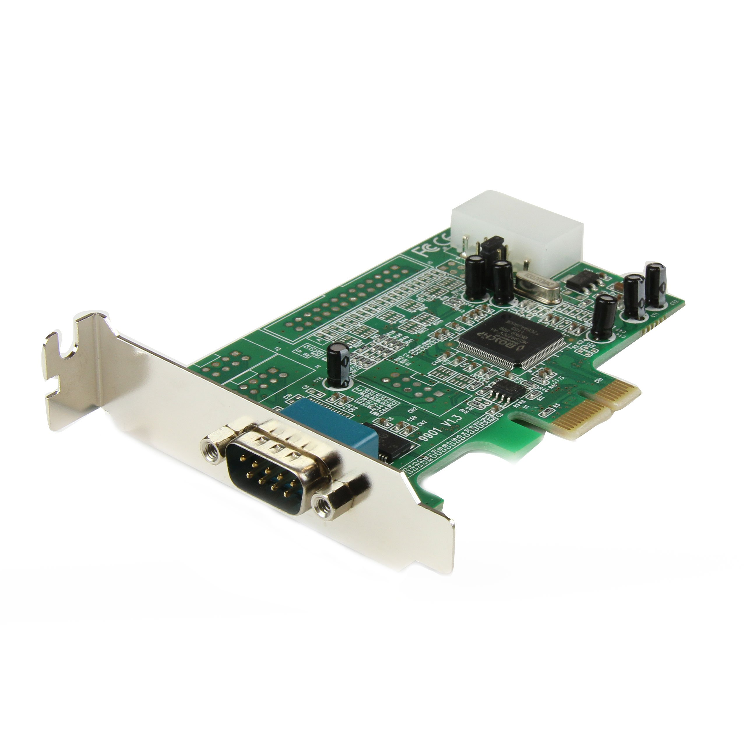 StarTech.com 1 Port Low Profile Native RS232 PCI Express Serial Card with 16550 UART (PEX1S553LP) by StarTech