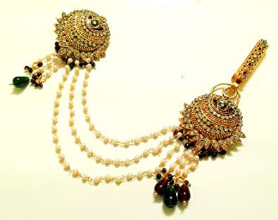 36883b0d5 Buy LALSO Multicolor Kundan Pearl Saree Pin Brooch Juda Kamarband Keychain  For Women Online at Low Prices in India   Amazon Jewellery Store - Amazon.in