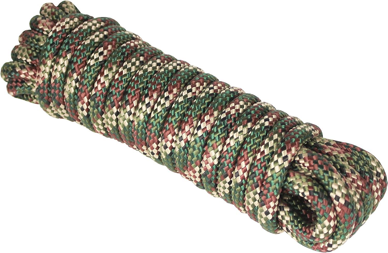 Extreme Max 3008.0313 Black 3//8 x 50 16-Strand Diamond Braid Utility Rope