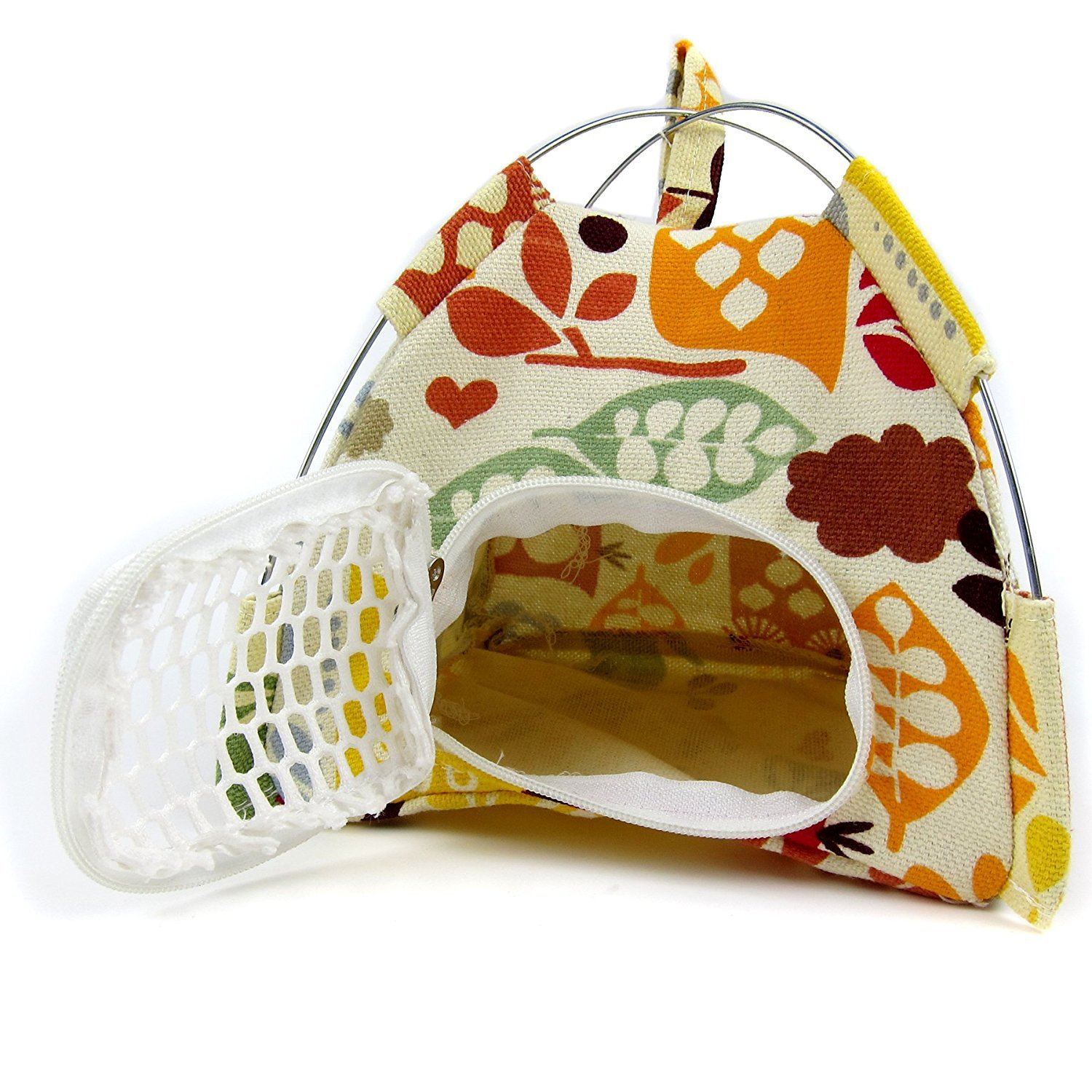 Lazynice Hamster Cage, Small Pet Outdoor Tents, Folding Pet Cage, Washable Hamster Pet Carriers Tent for Dwarf Pet Rat Bed Hedgehog Golden Squirrel,Gold Horn Bear (1414cm, colorful)