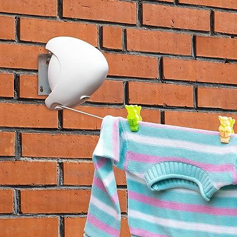 Amazon.com: Tatkraft fuerte retráctil línea de ropa de ...
