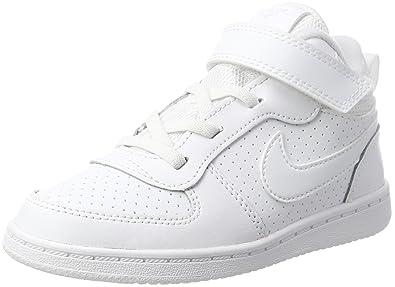 get cheap 5f527 30505 Nike Boys Court Borough Mid (TD), Chaussons Mixte bébé, Blanc White 100