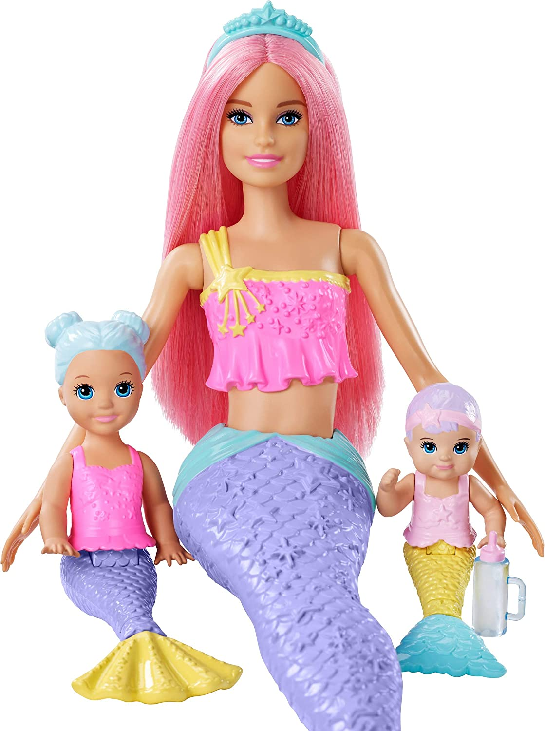 ?Barbie Dreamtopia Mermaid Nursery Playset with Barbie Mermaid Doll, Toddler and Baby Mermaid Dolls, Slide and Accessories, Gift for 3 to 7 Year Olds