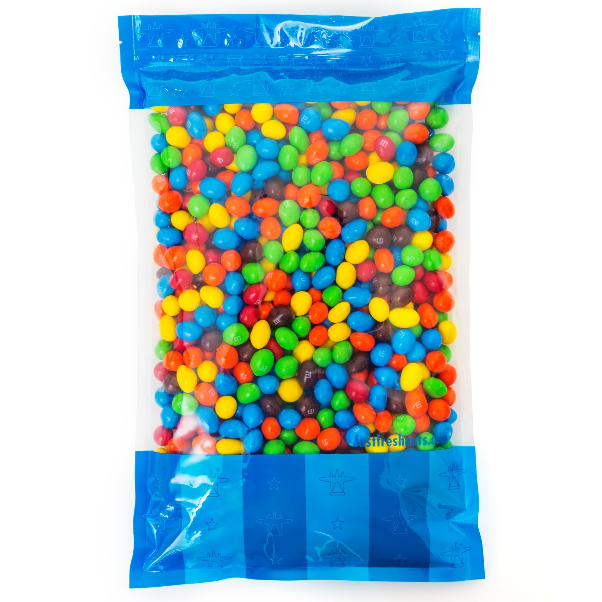 Bulk Peanut M&Ms in Resealable Bomber Bag, Wholesale Chocolate & Peanut Candy (5lb Bag) by Fast Fresh Nuts