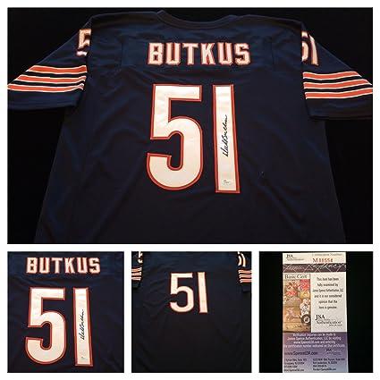 watch a72a4 60952 Dick Butkus Chicago Bears Signed Autograph Blue Jersey JSA ...