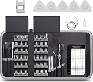 Professional Computer Repair kit, Precision Electronic Screwdriver Set, with 120 Magnetic Bit, Suitable for Phone, iPhone, PC, MacBook, Laptop, PS4, Xbox Repair of Small Technical Tools