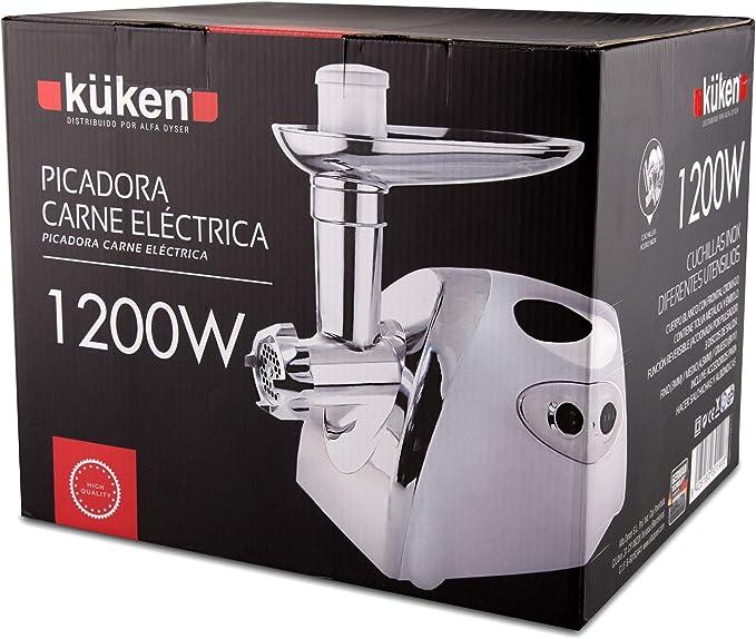 Alfa 19800 - Picadora carne electrica 1200 w. kuken: Amazon.es: Bricolaje y herramientas