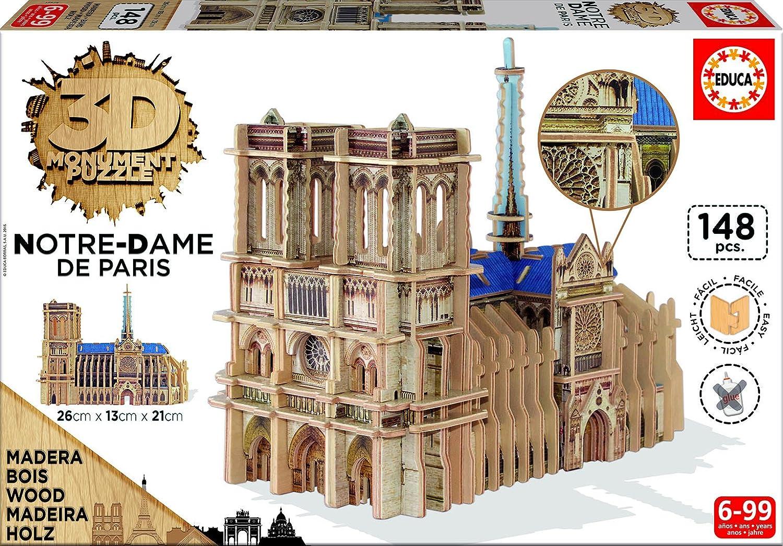 Educa Borrás - 16974.0 - 3D Monument Puzzle - Notre-Dame