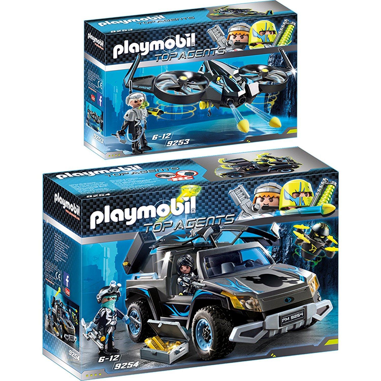 c8233bb58e Playmobil Top Agents Set 9253 Mega Drone & 9254 Dr. Drone Pick-up 91c482