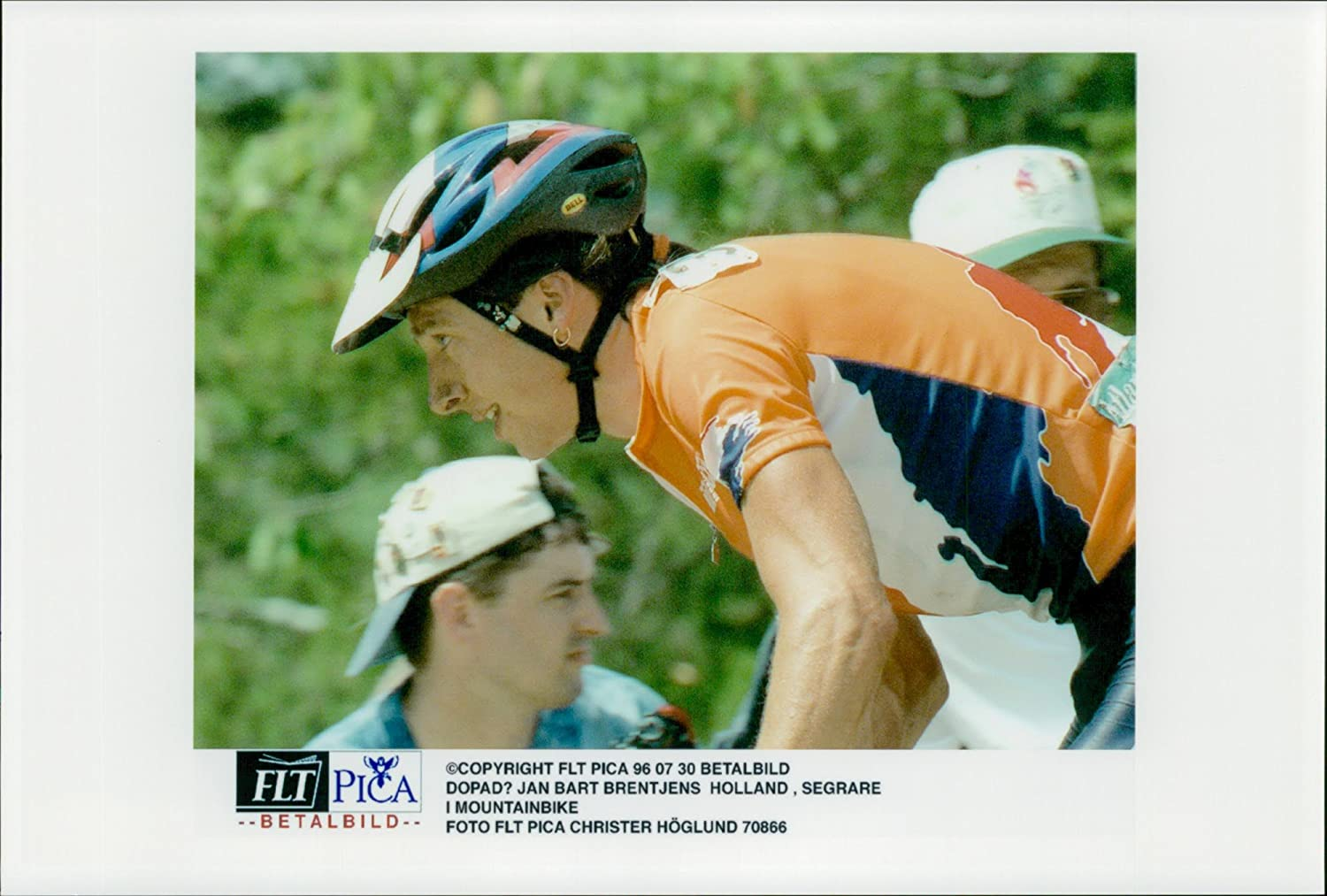 5059b9fa07e Amazon.com: Vintage photo of Jan Bart Brentjens from Holland, winner of  mountain bike: Entertainment Collectibles