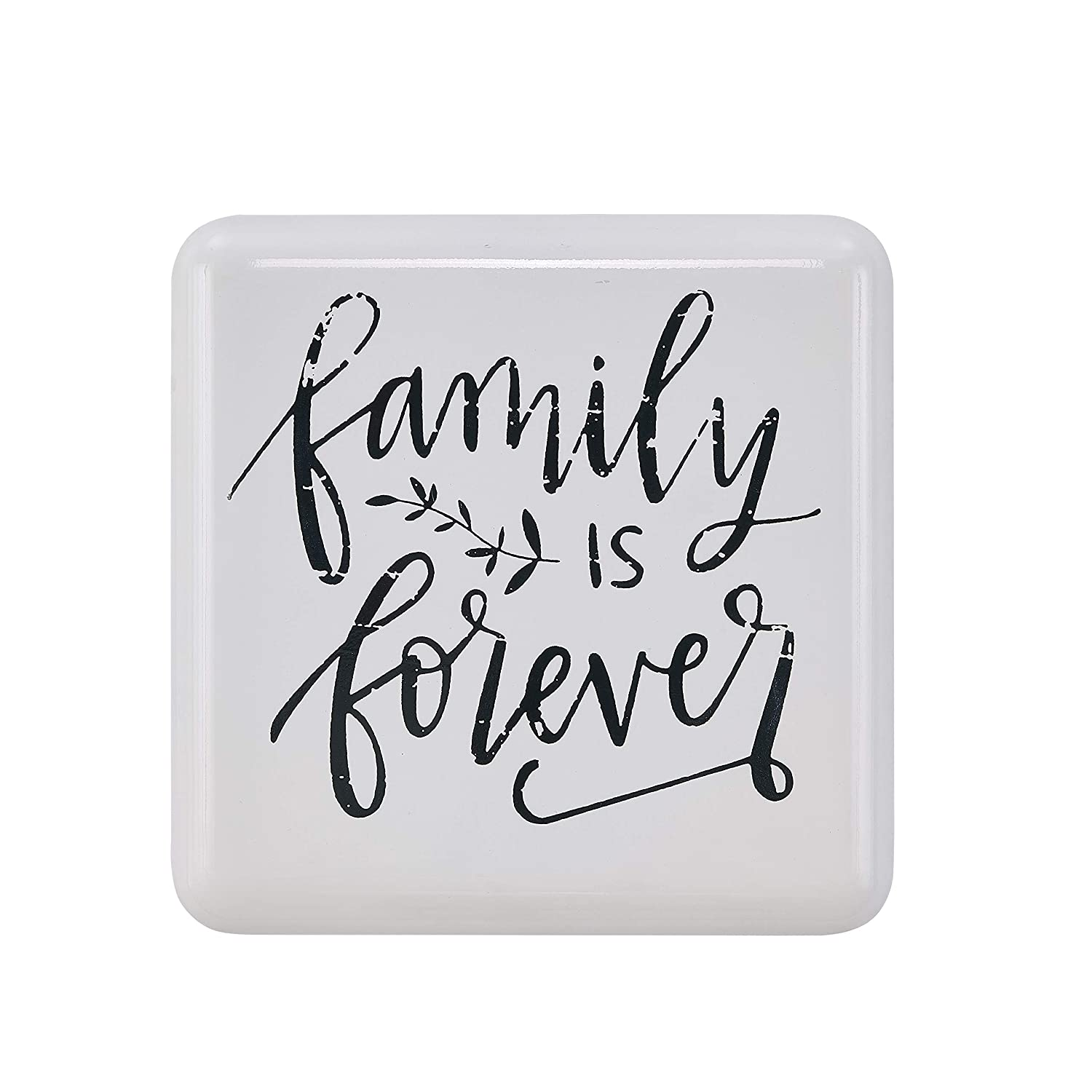Danya B Metal Wall Art with Inspirational Quote Family is Forever CU26634 Farmhouse Home D/écor